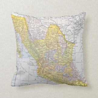MAP: MEXICO THROW PILLOW