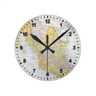 MAP: MEXICO WALL CLOCK