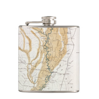 MAP: MISSISSIPPI RIVER, 1861 HIP FLASK
