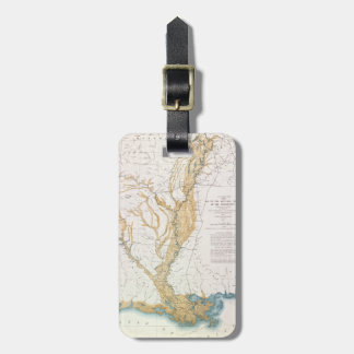 MAP: MISSISSIPPI RIVER, 1861 LUGGAGE TAG