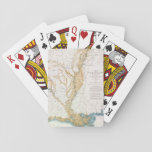 MAP: MISSISSIPPI RIVER, 1861 PLAYING CARDS