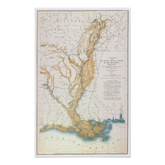 MAP: MISSISSIPPI RIVER, 1861 POSTER