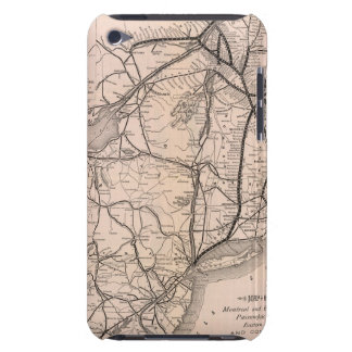 Map Montreal and Boston Air Line iPod Touch Case