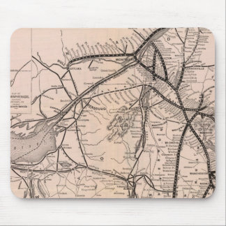 Map Montreal and Boston Air Line Mouse Mat