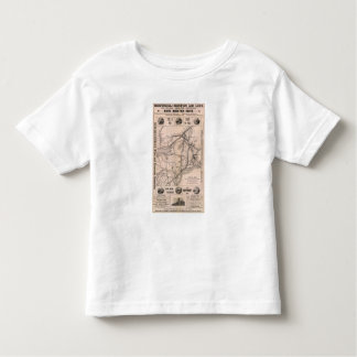 Map Montreal and Boston Air Line Toddler T-Shirt