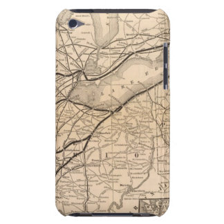 Map New York Central and Hudson River Railroad Barely There iPod Cases