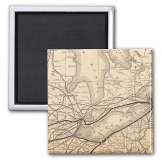Map New York Central and Hudson River Railroad Magnet