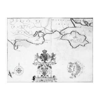 Map No.7 showing the route of the Armada fleet Canvas Prints