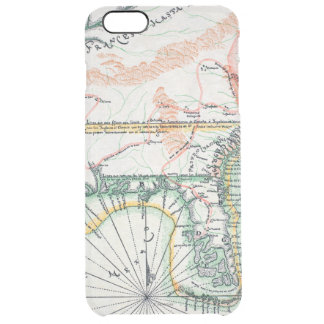 Map: North America, 1742 Clear iPhone 6 Plus Case