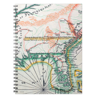 Map: North America, 1742 Notebook