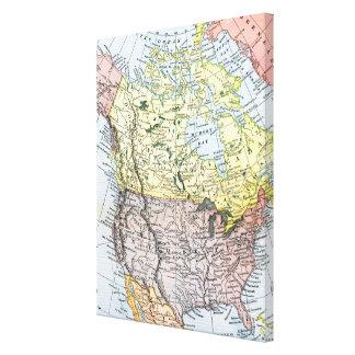 MAP: NORTH AMERICA, 1890 CANVAS PRINT
