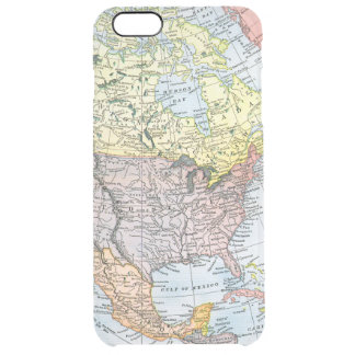 MAP: NORTH AMERICA, 1890 CLEAR iPhone 6 PLUS CASE