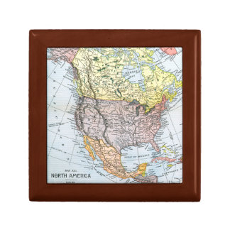 MAP: NORTH AMERICA, 1890 GIFT BOX