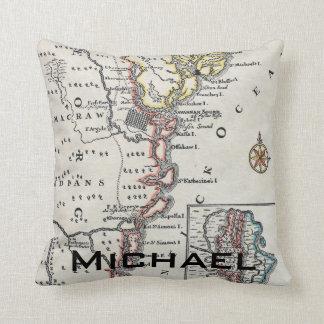 Map: North America, C1700 Cushion