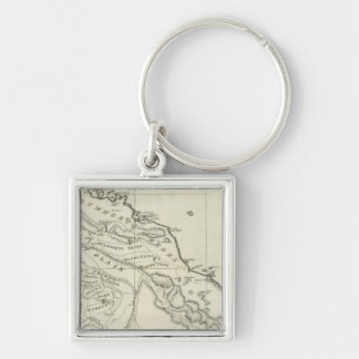 Map of Abyssinia Key Ring