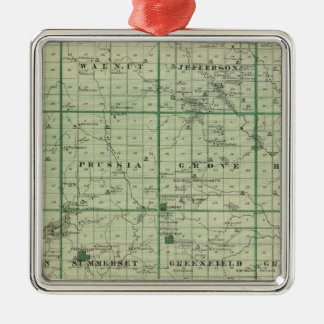 Map of Adair County, State of Iowa Christmas Ornament