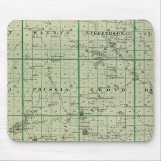 Map of Adair County, State of Iowa Mouse Mat