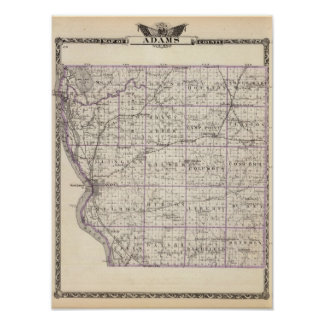 Map of Adams County Poster