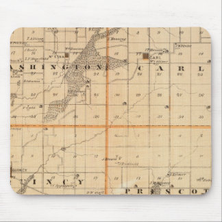 Map of Adams County, State of Iowa Mouse Mat