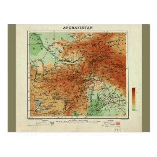 Map of Afghanistan (1912) Postcard