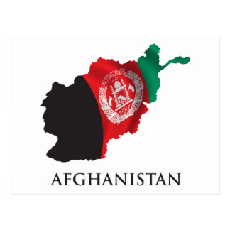 Map Of Afghanistan Postcard
