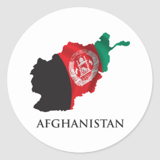 Map Of Afghanistan Round Stickers