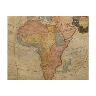 Map of Africa   1700 2 Canvas Print