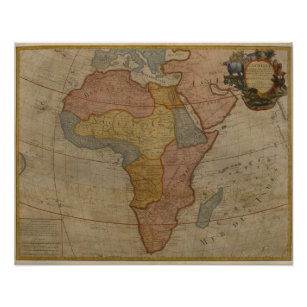 Map of Africa   1700 Poster