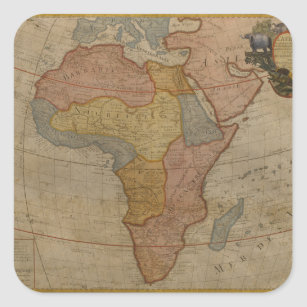 Map Of Africa 1700.Map Of Africa Stickers Labels Zazzle Uk