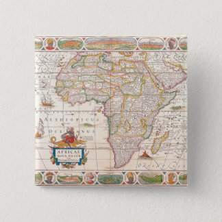 Map of Africa 2 15 Cm Square Badge