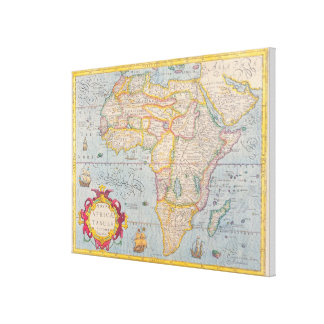 Map of Africa 2 Canvas Print
