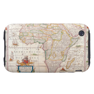 Map of Africa 2 iPhone 3 Tough Cases