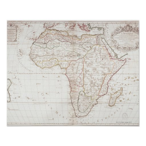 Map of Africa 2 Poster
