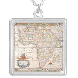 Map of Africa 2 Silver Plated Necklace