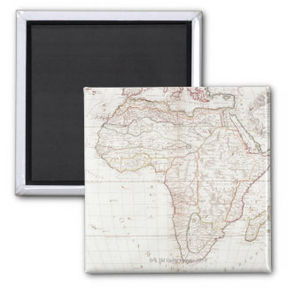 Map of Africa 2 Square Magnet