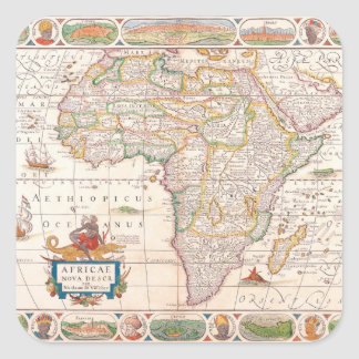 Map of Africa 2 Square Sticker