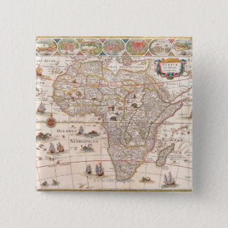 Map of Africa 3 15 Cm Square Badge