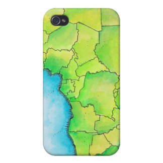 Map of Africa 3 Case For iPhone 4