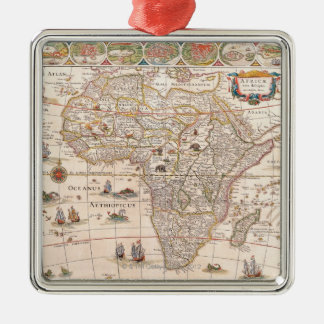 Map of Africa 3 Christmas Ornament