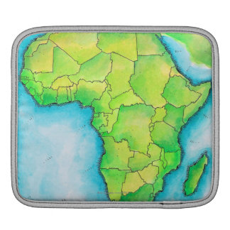 Map of Africa 3 iPad Sleeve