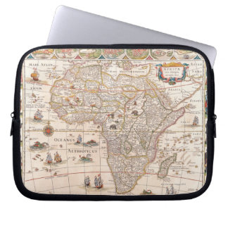 Map of Africa 3 Laptop Computer Sleeve