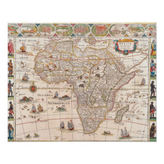 Map of Africa 3 Poster