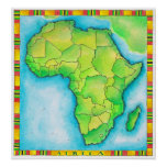 Map of Africa 3 Print