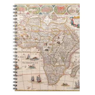 Map of Africa 3 Spiral Notebook