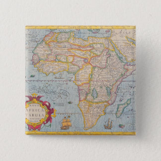 Map of Africa 4 15 Cm Square Badge
