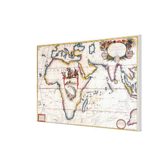 Map of Africa 4 Canvas Print