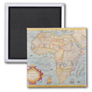 Map of Africa 4 Magnet
