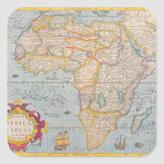 Map of Africa 4 Square Sticker