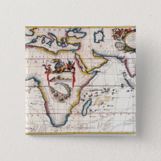 Map of Africa 5 15 Cm Square Badge