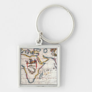 Map of Africa 5 Key Ring